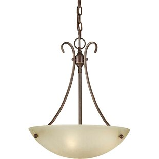 Charlton Home Dascomb 3-Light Bowl Pendant