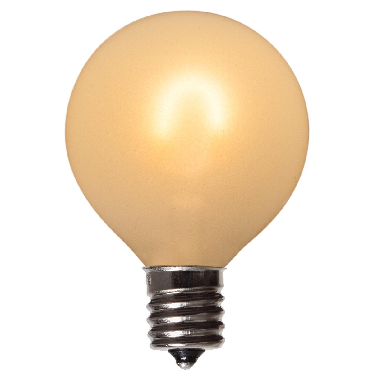Wintergreen Lighting 1 Watt 25 Watt Equivalent G50 Led Non Dimmable Light Bulb Warm White 2500k E17 Intermediate Base Wayfair