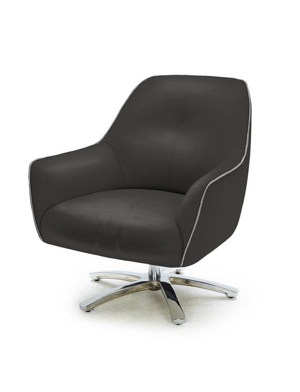 Orren Ellis Coalpit Heath Modern Upholstered Eco-Leather Armchair | Wayfair  sc 1 st  Wayfair & Orren Ellis Coalpit Heath Modern Upholstered Eco-Leather Armchair ...