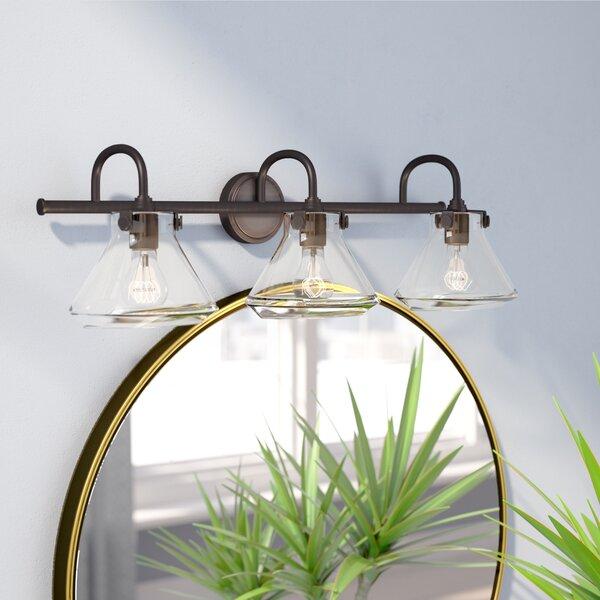 Longshore Tides Cardoza 3 Light Cone Vanity Light Reviews Wayfair