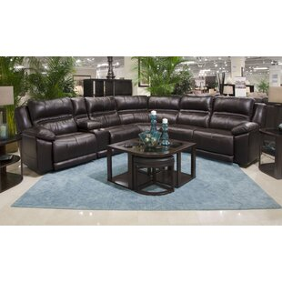 Bergamo Leather Reclining Sectional by Catnapper Discount
