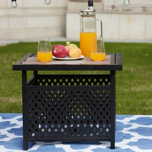 Check Out Sartor Patio Iron Side Table Best Price