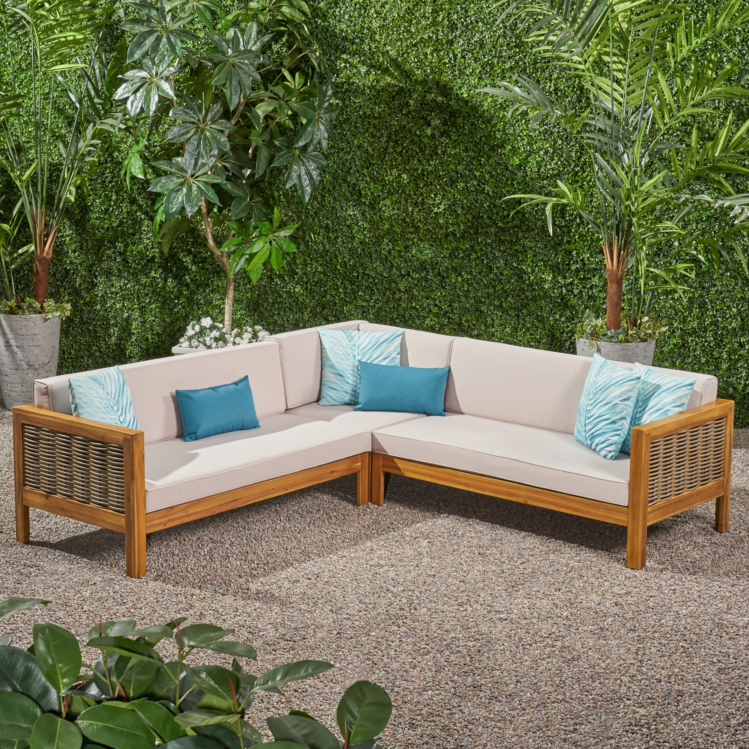 Kennison Patio Sectional with Cushions