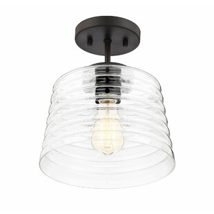 Wrought Studio Wason 1-Light Semi Flush Mount