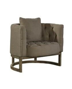 Furniture Classics Tufted Semi Circle Barrel Chair