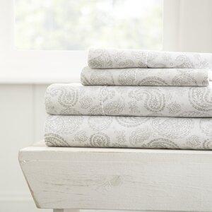 Gabriella Premium Ultra Soft Coarse Paisley Pattern Sheet Set