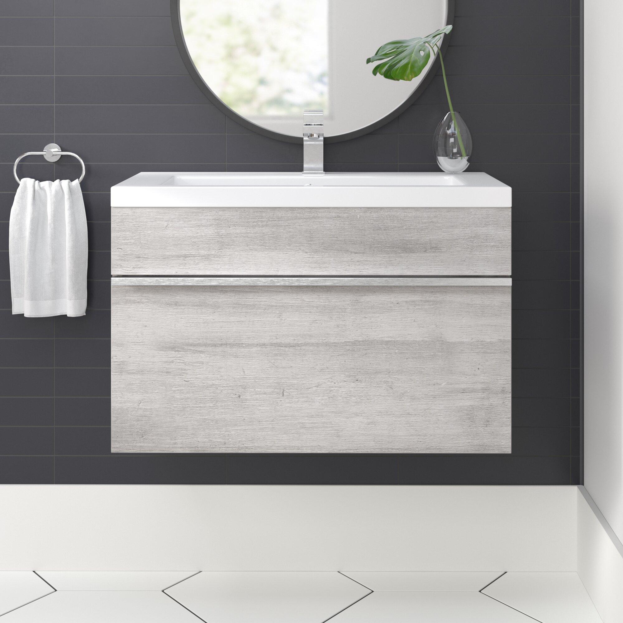 Caitlynn 24 Wall Mounted Single Bathroom Vanity Set Reviews Allmodern