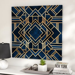 Art Deco Iii Graphic Print On Canvas