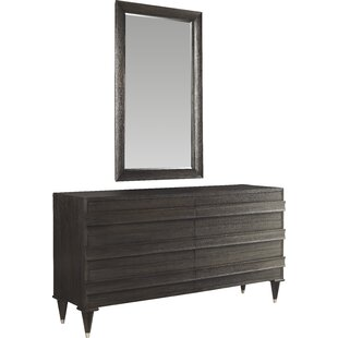 Logan 6 Drawer Double Dresser with Mirror