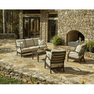 Cerissa 4 Piece Sunbrella Sofa Set with Cushions by Klaussner Furniture