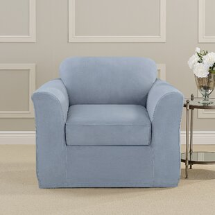 Ultimate Heavyweight Stretch Suede Box Cushion Armchair Slipcover