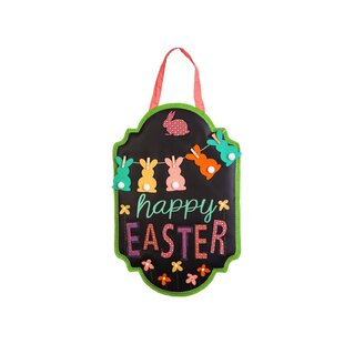 Happy Easter Chalkboard Banner Wall D?cor by The Holiday Aisle