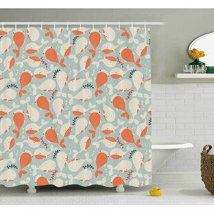 Turner Ocean Animal Whales Shower Curtain by Harriet Bee