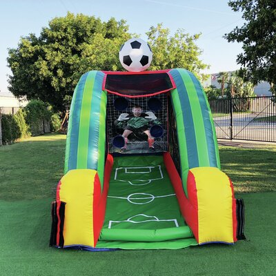 Inflatable Soccer Game Bounce House JumpOrange