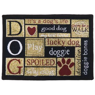 Leishman I Love Dogs Tapestry Area Rug ByWinston Porter