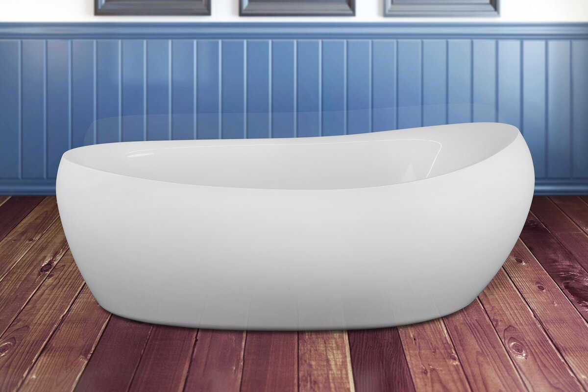 AKDY 68.5\'\' x 32.67\'\' Soaking Bathtub & Reviews | Wayfair