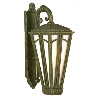 Affordable Price Petrey 1-Light Outdoor Wall Lantern By Alcott Hill