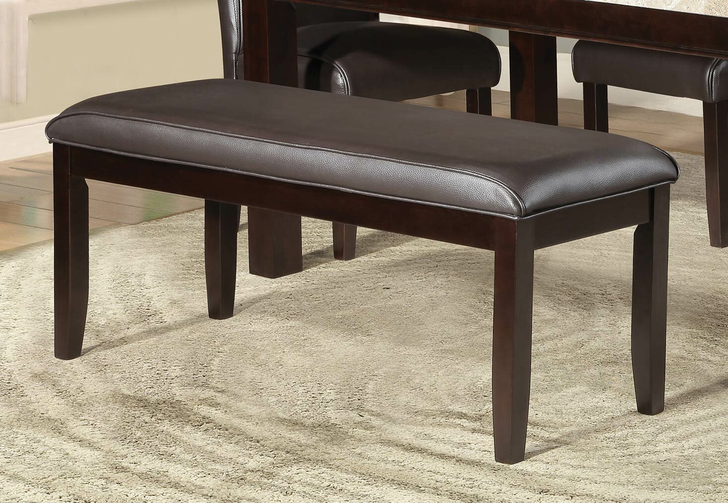 Surprising Adrian Dining Faux Leather Bench Machost Co Dining Chair Design Ideas Machostcouk