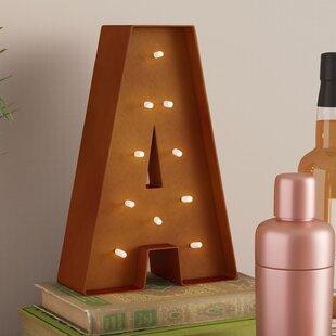 Rustic Vintage Letter LED Marquee Sign ByTrent Austin Design