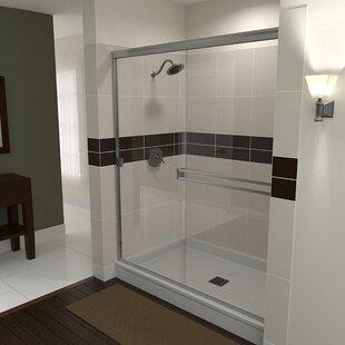 51 x 67 Bypass Semi-Frameless Shower Door by Arizona Shower Door