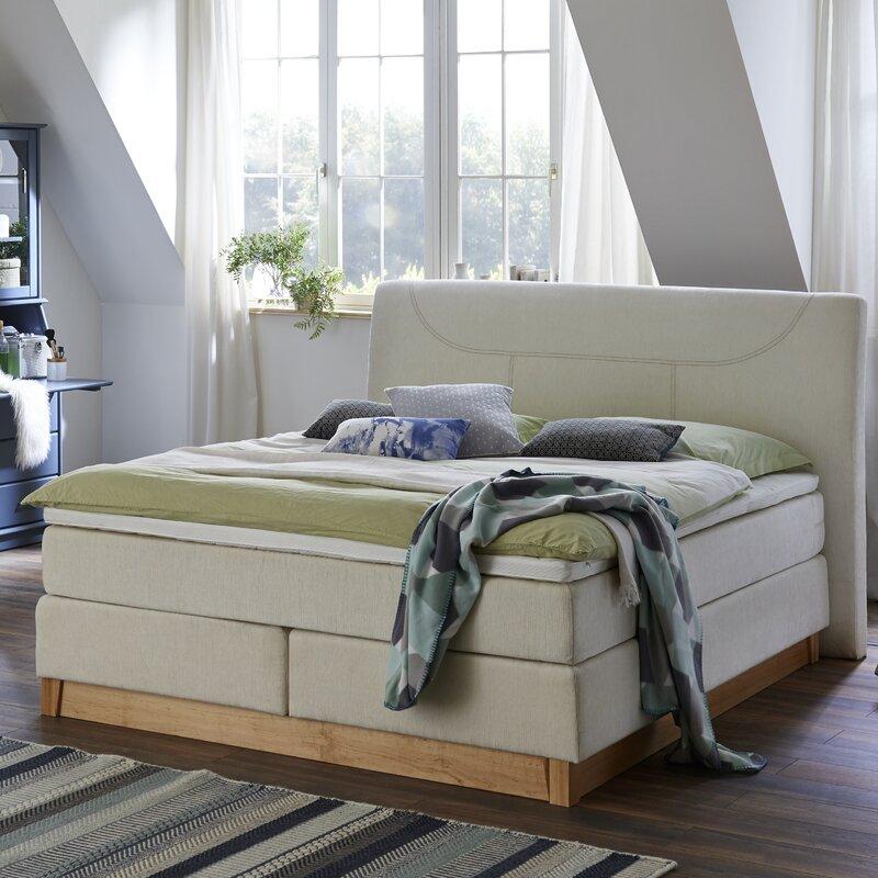 atlantic home collection boxspringbett bella mit topper. Black Bedroom Furniture Sets. Home Design Ideas