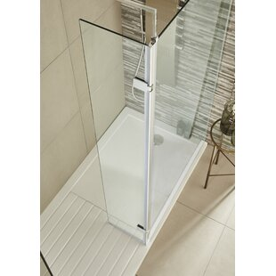 Wetroom 32.2cm x 185cm Hinged Shower Door by Premier