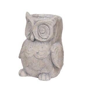 Platt Owl Metal Statue Planter Image