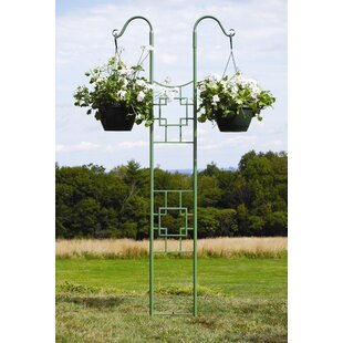 ACHLA Square-on-Squares Iron Gothic Trellis