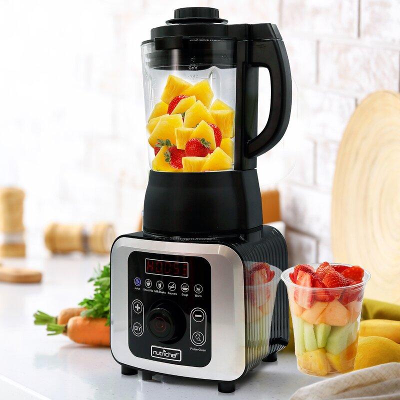 NutriChef Digital Electric Countertop Heating Blender Food ...