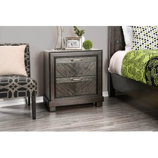 Gilstrap 2 Drawer Nightstand by Wrought Studio
