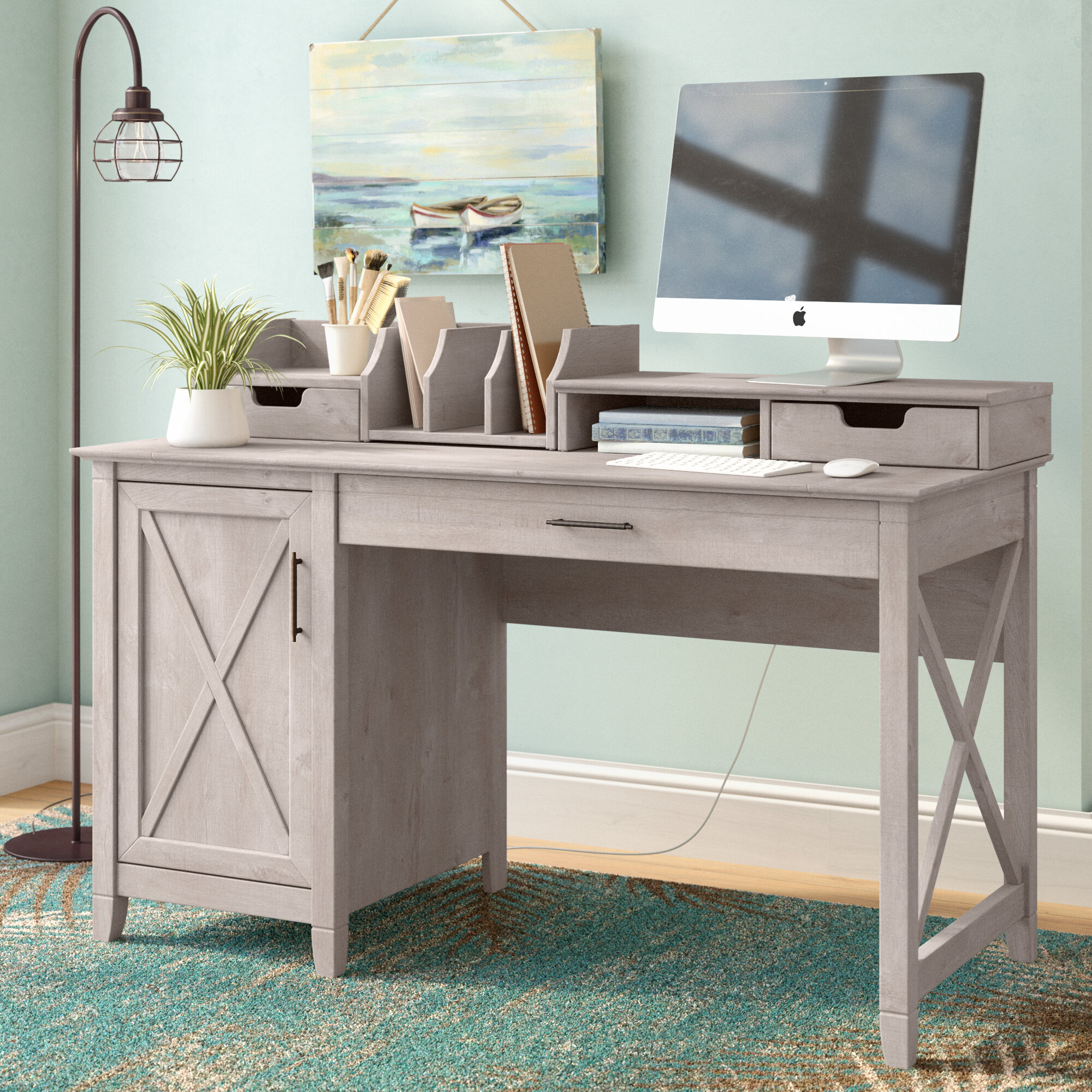 furniture eagle computer hutch cfm coastal pedestal hayneedle product desk customizable single with optional master