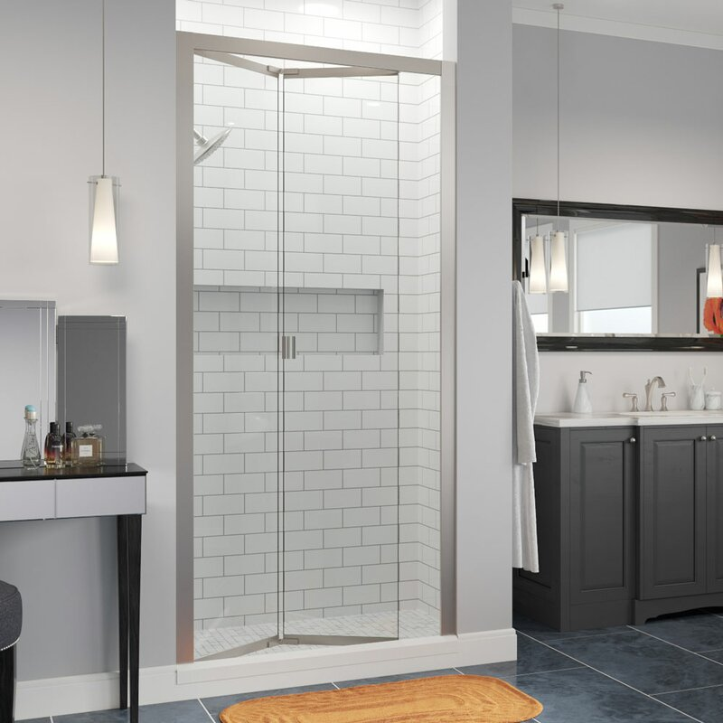"Basco Infinity Bifold 31"" x 67"" Folding Semi-Frameless Shower Door"