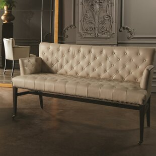Chester Leather Loveseat by Global Views
