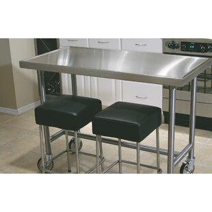 kitchen prep table island prep table kitchen with wheels wayfair
