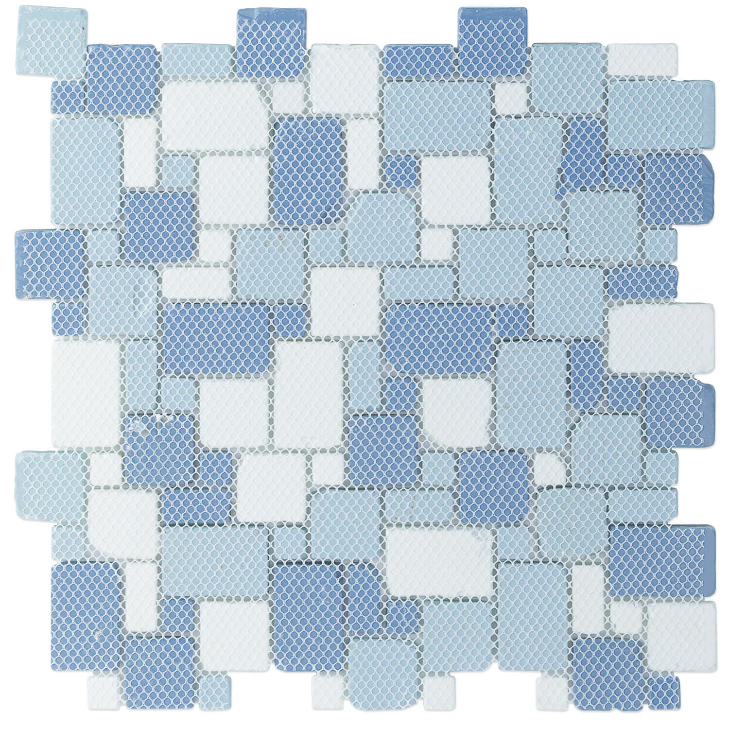 Ivy Hill Tile Ocean Wave French Beached Random Sized Glass Mosaic Tile In Blue Reviews Wayfair Ca