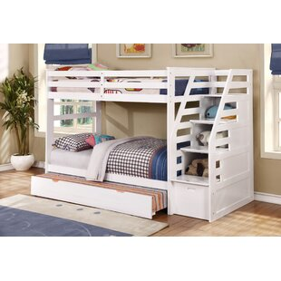 Bodkin Twin Over Twin Bunk Bed with Trundle and Storage