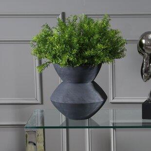 Malave Ceramic Angular Scratch Table Vase