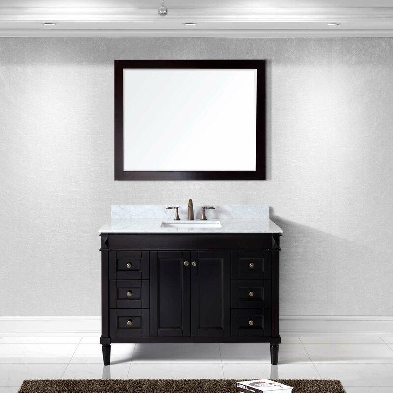 white bathroom vanities with marble tops. Tiffany 48\ White Bathroom Vanities With Marble Tops