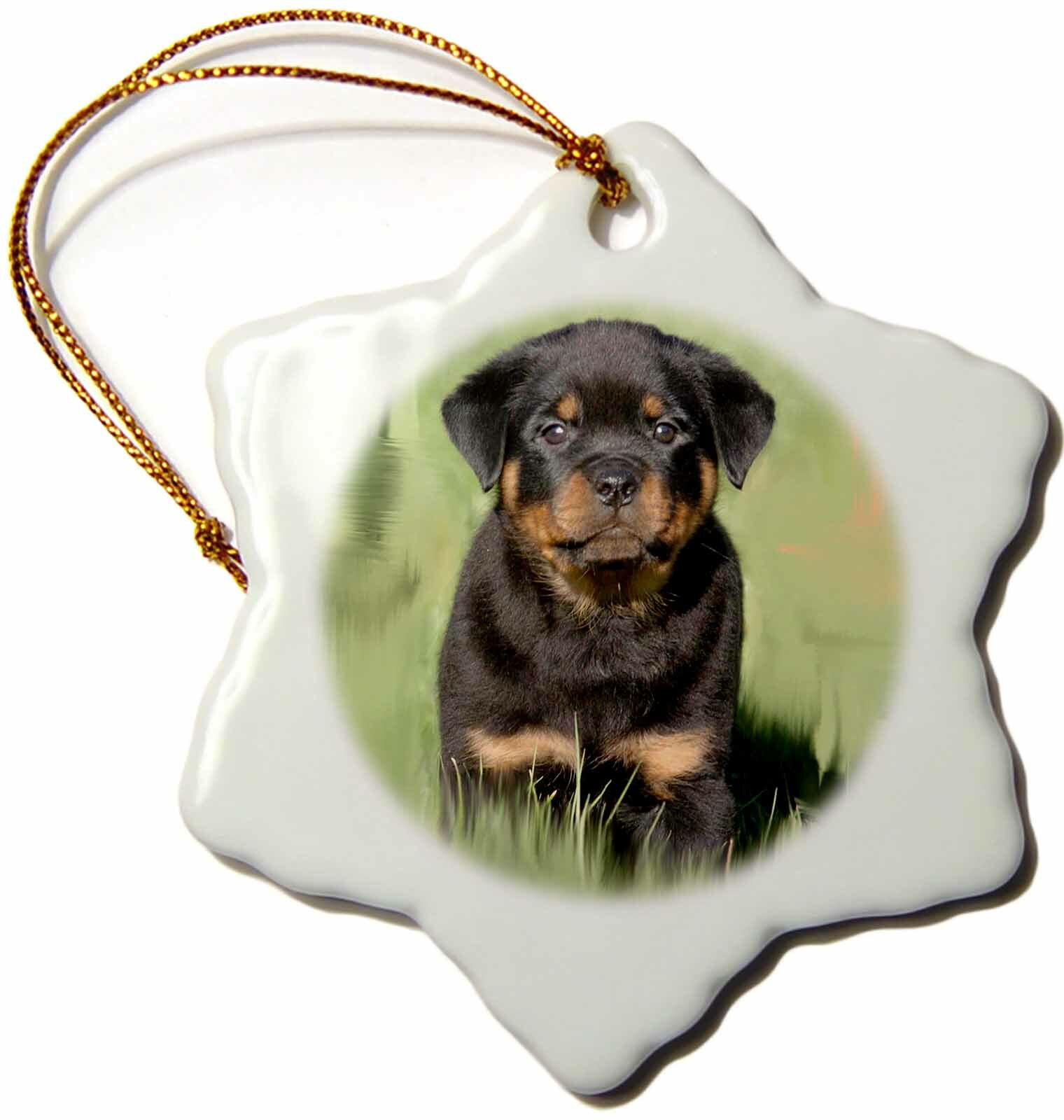 The Holiday Aisle Rottweiler Puppy Holiday Shaped Ornament Wayfair