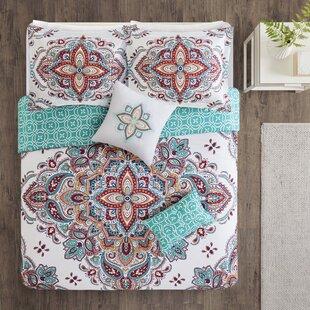 Sky Print 5 Piece Reversible Comforter Set