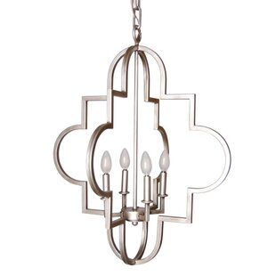 Arispe 4-Light Geometric Chandelier by Canora Grey