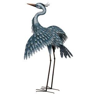 Trong Metallic Heron Statue