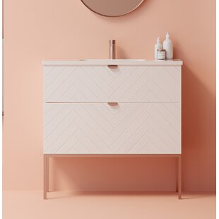 Hainsworth 1000mm Free-standing Single Vanity Unit By Ebern Designs