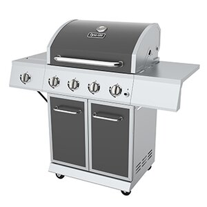 4-Burner Propane Gas Grill with Side Burner