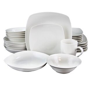 Natrona Square 30 Piece Dinnerware Set, Service for 6