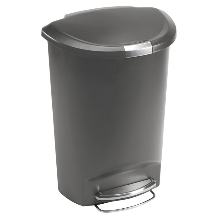 Plastic 13 Gallon Step On Trash Can
