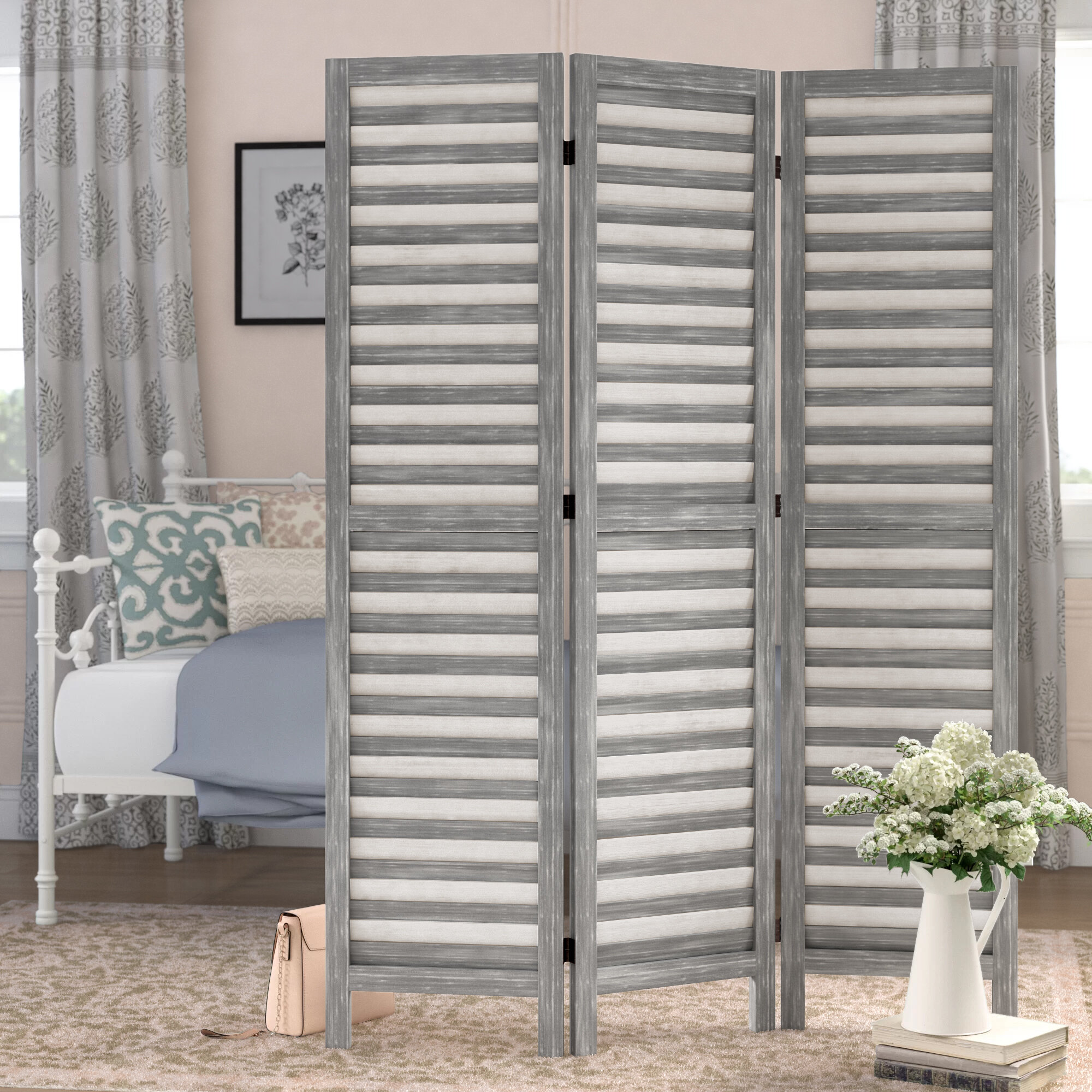 Laurel Foundry Modern Farmhouse Bowersville 3 Panel Room Divider Reviews Wayfair