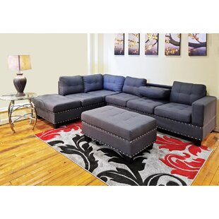 Alcott Hill Raquel Sectional with Ottoman