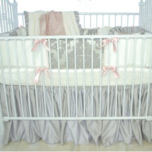 Buy luxury Pink Champagne Crib Dust Ruffle By Blueberrie Kids