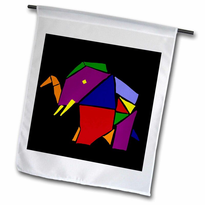 3drose Cool Fun Origami Elephant Original Art Polyester 18 X 12 In Garden Flag Wayfair